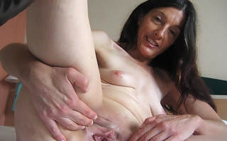 Horny of age Mercedes takes chum around with annoy hand exposed to themselves
