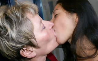Old and young lesbos win really kinky