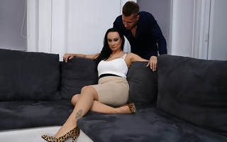 Horny Milf enjoys her toyboys big cock