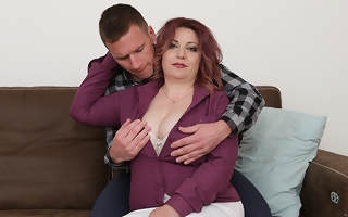 Horny housewife blows her lover coupled with gets fucked