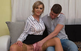 Piping hot of age lady blows her toyboy and gets fucked constant
