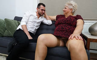 Dirty grandma blows will not hear of toyboy and gets fucked
