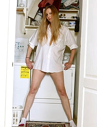 Phoebe Waters Doing Laundry