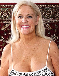 58 year old and athletic Judy Mayflower does some naked exercise