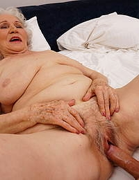 Granny Maria loves herself a hard young toyboy