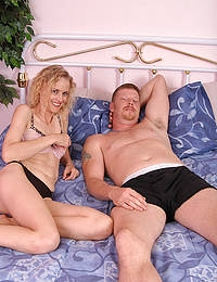 41 year old Kira gets her pussy stuffed with young rod