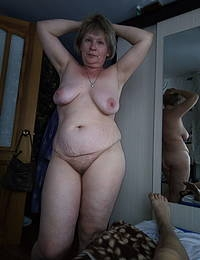 Big tits and cock play with Granny