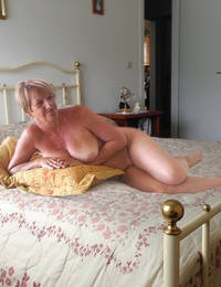 Granny talks dirty and has orgasm