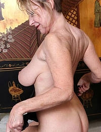 Granny with fantastic hairy pussy