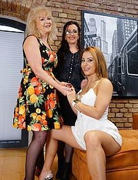 Three married women seduce a horny strapping bachelor