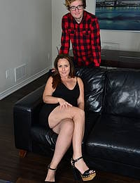 This naughty MILF loves fucking the younger guy next door