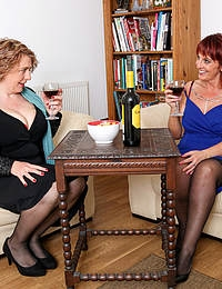 When these naughty mature ladies come together anything goes