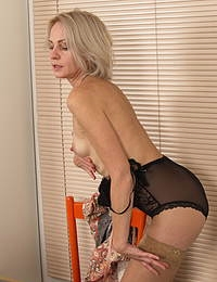 Naughty housewife having fun with her lover
