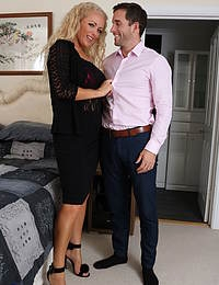 Hot blonde MILF Rebecca fooling around with her lover