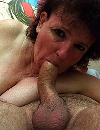 Giant Load On Grannys Slutty Face
