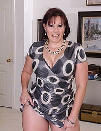 Horny big breasted American housewife getting naughty