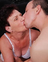 This mature lady loves to fool around with a toy boy