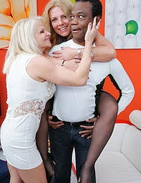 Two housewives share one hard black man