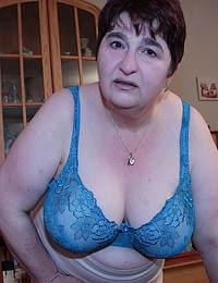 Big German housewife getting frisky