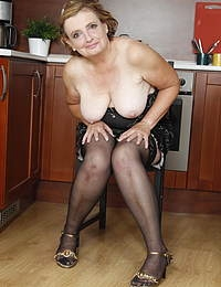 This housewife loves to get dirty in her kitchen
